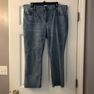 Old Navy Distressed Ankle Flare Jeans